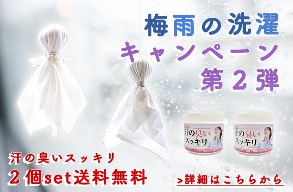 【ポイント5倍・送料無料】梅雨の洗濯キャンペーン第2弾!今回は汗の臭い徹底洗浄
